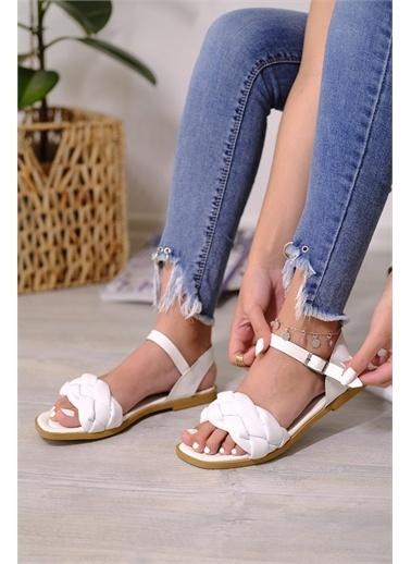 Oksit Spor Sandalet Beyaz